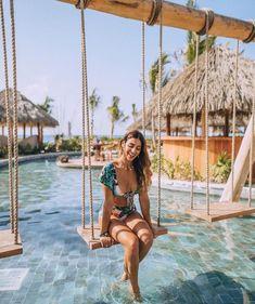 High Waist Push Up Ruffle Bikini Set – Benovafashion Take The Stairs, Girls Getaway, Beach Bars, Foto Pose, Bikini Photos, Pool Designs, Beach Club, Tulum, Bikini Set
