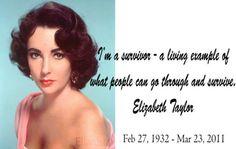 Hollywood Icon Elizabeth Taylor.  #quotes