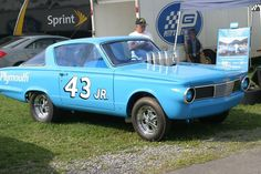 65 Barracuda from Richard Petty's brief stint drag racing when NASCAR banned the Hemi