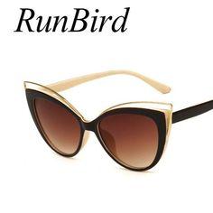 f94d6de6be1008 Fashion Classic Women Brand Designer Cateye Sunglasses Female Vintage Lady  Sun Glasses Oculo De Sol Shades