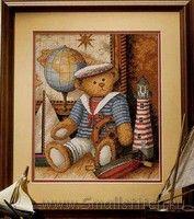 Схема вышивки крестом  «Sailor bear»   Dimensions