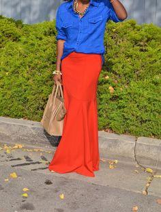 Style Pantry | Men's Button Up Shirt + Maxi Skirt