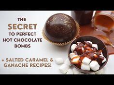 Caramel Ganache, Salted Caramel Hot Chocolate, Hot Chocolate Gifts, Christmas Hot Chocolate, Hot Chocolate Bars, Hot Chocolate Recipes, Chocolate Cafe, Chocolate Spoons, Christmas Food Gifts