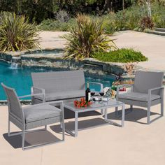 4PC-Patio-Furniture-Set-Cushioned-Outdoor-Wicker-Rattan-Garden-Lawn-Sofa-Seat