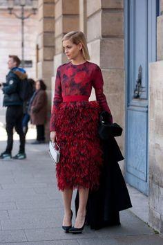 A Blonde Leigh Lezark: Photos: Best-Dressed Street Style at Paris Fall Fashion Week 2013   Vanity Fair