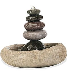 Five-Stone Fountain...You've felt the power of energy when you've walked on the beach or beneath a waterfall.  when you put an indoor fountain in your home, suddenly the air you breathe is clearer.. Couldn't you use some of that?