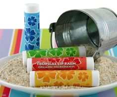 Tropical Beach Lip Balm Favors from Wedding Favors Unlimited