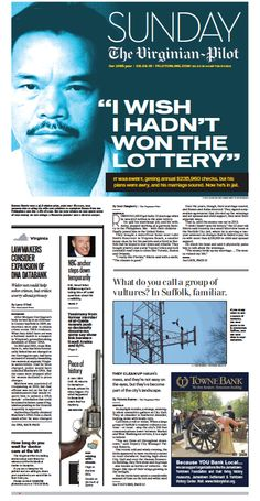 The Virginian-Pilot's front page for Sunday, Feb. 8, 2015.