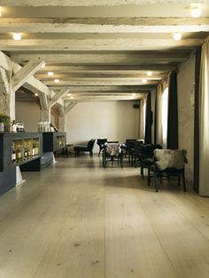 Wide plank floors at noma restaurant, Copenhagen