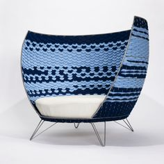This chair is designed by a Swedish Ola Gillgren, inspired by the old basketwicking techniques. Big Basket Chair is a big chair that can fit two adult people on