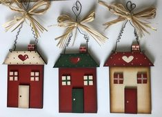 Clay Christmas Decorations, Christmas Ornament Crafts, Christmas Art, Decor Crafts, Home Crafts, Diy And Crafts, Christmas Crafts, Paper Crafts, 242