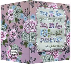 """Trip over love, you can get up.  Fall in love & you fall forever"" greeting card.  Blank inside. Available retail or wholesale:  http://www.violetcottage.com/valentine-s-day-love-anniversary/295-trip-over-love-blank-inside-mauve-periwinkle-blue.html"