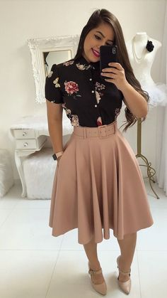 31 New Ideas For Womens Fashion Casual Winter Moda Trend Fashion, Work Fashion, Modest Fashion, Fashion Dresses, Fashion Looks, Fashion Clothes, Fashion Fashion, Fashion Stores, Autumn Fashion