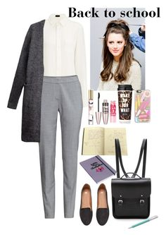 """Back to school"" by eliza-redkina ❤ liked on Polyvore featuring Joseph, H&M, The Cambridge Satchel Company, Wild & Wolf, Casetify, Faber-Castell, Maybelline, Estée Lauder, women's clothing and women's fashion"