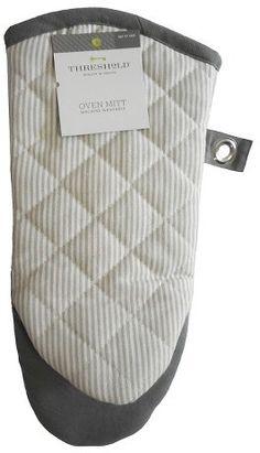Threshold Gray Stripe Oven Mitt - Threshold - $5.99