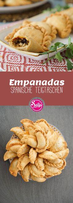 Empanadas / Empanadillas / spanische Teigtaschen / Fingerfood – Famous Last Words Healthy Finger Foods, Easy Dinner Recipes, Healthy Dinner Recipes, Party Recipes, Empanadas, Healthy Appetizers, Appetizers For Party, Snacks Für Party, Vegan Snacks
