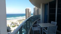 Balcony View at the Hilton Surfers Paradise Hotel and Residences on the Gold Coast in Queensland, Australia Paradise Hotel, Queensland Australia, Surfers, Gold Coast, Family Travel, Balcony, Country, Building, Family Trips