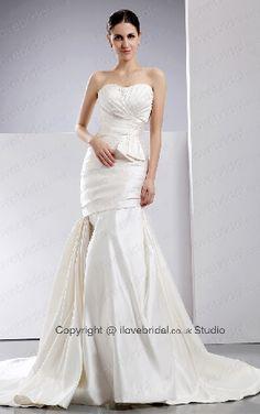 Hot Selling Wrinkled Sweetheart Satin Mermaid Bridal Veil