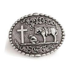 Yanghair Fashion Men's Cowboy Prayer Belt Buckle Western Belt Buckle