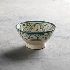 Bol en céramique traditionnel marocain menthe