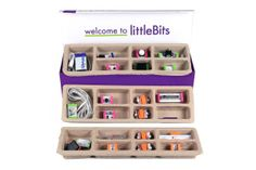 Little Bits electronics construction kit. Looks pretty cool. Maybe a step up from Snap Circuits...