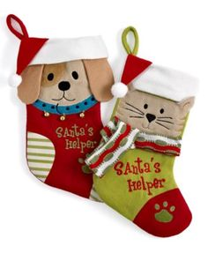 Jabara Christmas Stocking, Santa's Helper Pet