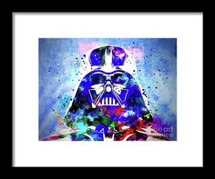 Darth Vader Framed Print by Daniel Janda. All framed prints are professionally printed, framed, assembled, and shipped within 3 - 4 business days and delivered ready-to-hang on your wall. Choose from multiple print sizes and hundreds of frame and mat options.