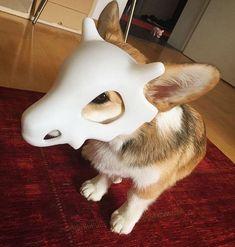 {CANADA} Hard plastic Pokémon cubone mask statue figure Hamster Guinea Pig Toy
