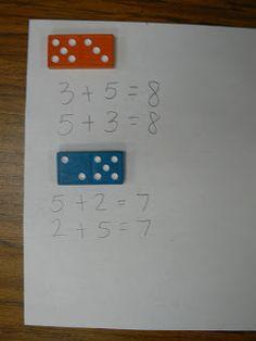 Sumas con dominós