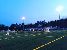 A little Thursday Night Lights. Nice job Lady Builders! #morselacrosse #shipbuilders #lacrosse #soggydogdesigns #gotgame