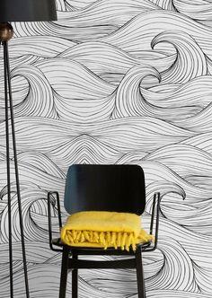 WAVES Motif #wallpaper by @wallpepperit