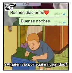 Memes de buenas noches recreoviral Funny Jokes, Hilarious, Love Phrases, Spanish Memes, I Laughed, Real Life, About Me Blog, Told You So, Entertaining