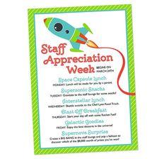Space Themed Staff Appreciation Week Invitation