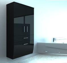 Filing Cabinet, Storage, Furniture, Atlantis, Home Decor, Bathroom, Sitting Rooms, Bathing, Black