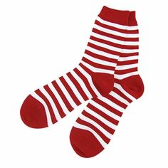 Fashion for your feet. Marimekko Striped Crimson/White Socks.