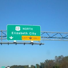 Elizabeth City, NC in North Carolina...my Grandmother Brigman lived in this city