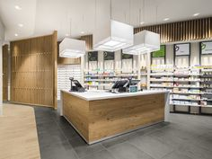 Farmacia riva by amlab pharmacy design retail design store design pharmacy Retail Store Design, Retail Shop, Retail Displays, Poster Shop, Pharmacy Design, Design Food, Shops, Layout, Shop Interior Design