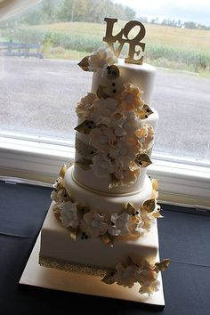 Has to be one of my favourite cakes to date :) ... For one of our amazing staff Shaelyn... who married one of my best friends Aiden :)  www.toonicetoslice.ca