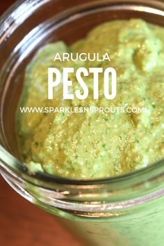 Arugula makes pesto