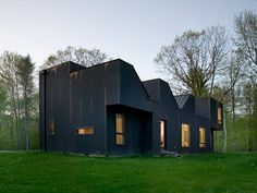 """COPPER HOUSE BY DELLA VALLE BERNHEIMER-  Hudson Valley Copper House. """"Clad almost entirely in corrugated copper siding and a mixture of flat-seam and standing seam copper roofing, the skin will age and develop a patina that reflects time through material changes."""""""