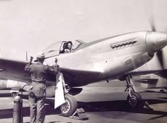"british-eevee: ""WASP pilot Florene Watson in her P-51D Mustang (Date and location unknown) """