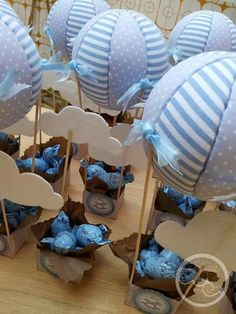 Now I bring you these ideas to make centerpieces for a baptism, … – Baby Shower Party Fiesta Baby Shower, Baby Boy Shower, Baby Shower Gifts, Baby Gifts, Shower Party, Baby Shower Parties, Do It Yourself Baby, Deco Kids, Shower Bebe