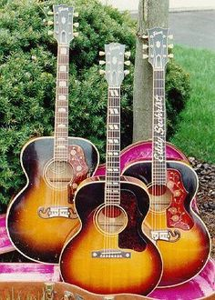 beautiful acoustic Gibson guitars - Still have my 1962 Gibson Sunburst (From the Gibson factory on Long Island, NY. just before it was closed down.