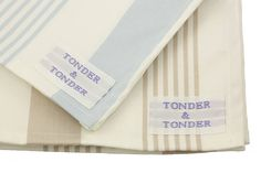 Absorbent strong cotton drill ticking stripe tea towel available in a soft pale blue and versatile taupe with a strong loop for hanging. Ticking Stripe, Ticks, Tea Towels, Drill, Personalized Gifts, Taupe, Unique Gifts, Pavilion, Cotton