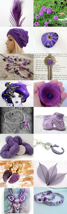 A Plethora of Purple  by Charlotte on Etsy--Pinned with TreasuryPin.com #promotingwomen