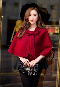 Morpheus Boutique - Red Bow Ms Blouse Cloak Short Coat, $149.99 (http://www.morpheusboutique.com/new-arrivals/red-bow-ms-blouse-cloak-short-coat/)