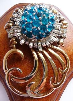 Pennino sterling silver pin brooch  gold washed sterling