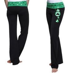 Boston Celtics Ladies O.T. Cotton Yoga Pants - Black