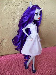 MLP Rarity custom Monster High doll up on eBay - TOMOPOP