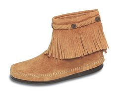 Grey Hi Top Back Zip Boot - Minnetonka Moccasins http://stagecoachgifts.biz/collections/minnetonka-moccasins/products/hi-top-back-zip-boot